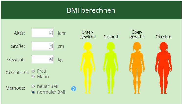 bmi rechner für kinder
